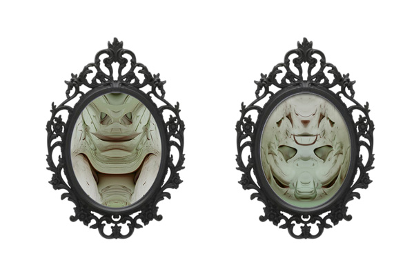 Death Masks in Ikea Frames Previsualization