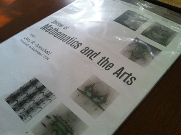 My art featured on the cover of the Journal of Mathematics and the Arts
